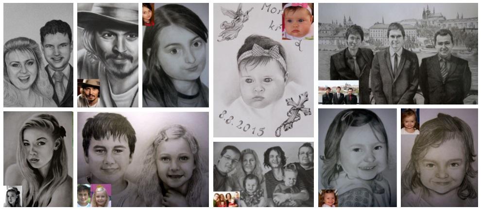 slide portréty